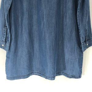 Soft Joie Dresses - Soft Joie Blue Denim Tunic Shirt Dress